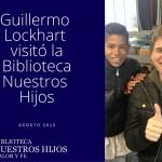 Guillermo Lockhart en la bibliot
